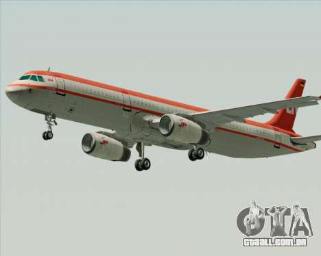 Airbus A321-200 LTU International para GTA San Andreas vista superior