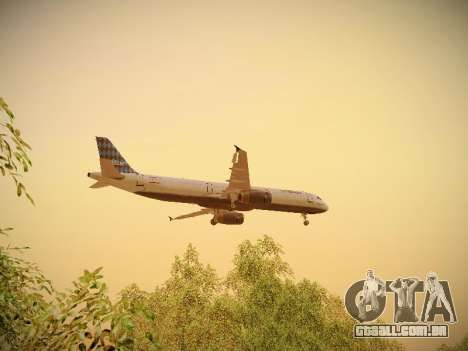 Airbus A321-232 jetBlue Airways para GTA San Andreas interior