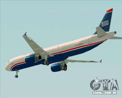 Airbus A321-200 US Airways para GTA San Andreas vista superior