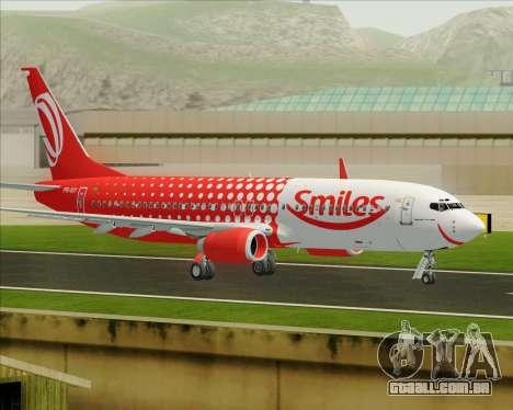O Boeing 737-800 da Gol Transportes Aéreos para GTA San Andreas vista interior