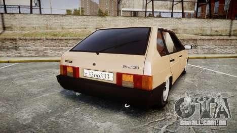 VAZ-2109 BRAÇO para GTA 4 traseira esquerda vista