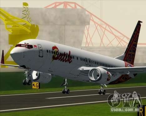 Boeing 737-800 Batik Air para as rodas de GTA San Andreas