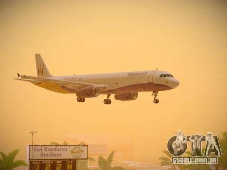 Airbus A321-232 Monarch Airlines para GTA San Andreas vista inferior