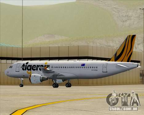 Airbus A320-200 Tigerair Australia para o motor de GTA San Andreas
