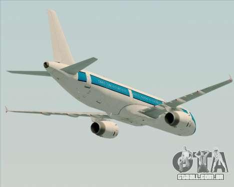 Airbus A321-200 American Pacific Airways para as rodas de GTA San Andreas