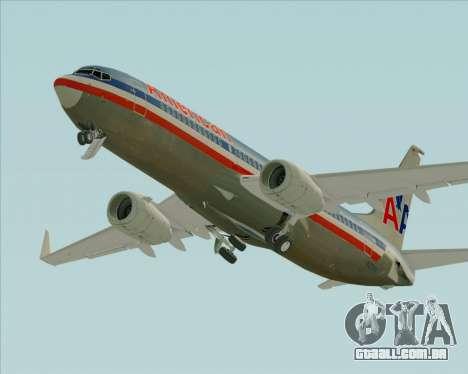 Boeing 737-800 American Airlines para GTA San Andreas vista superior