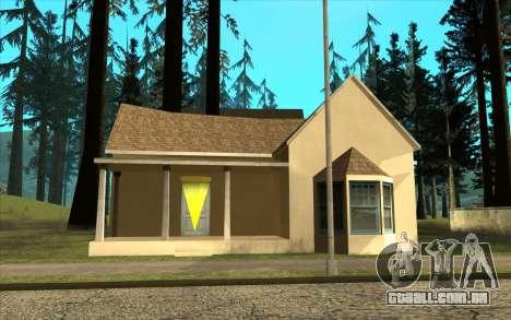 Novo CJ casa em Angel Pine para GTA San Andreas terceira tela