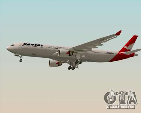 Airbus A330-300 Qantas (New Colors) para GTA San Andreas vista interior