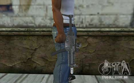 Silver MP5 para GTA San Andreas terceira tela