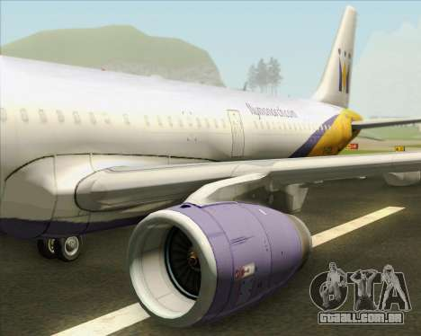Airbus A321-200 Monarch Airlines para o motor de GTA San Andreas