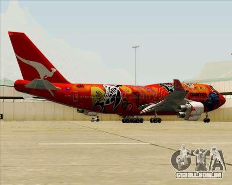 Boeing 747-400ER Qantas (Wunala Dreaming) para as rodas de GTA San Andreas