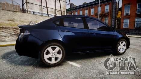 Dodge Dart 2013 Undercover [ELS] para GTA 4 esquerda vista