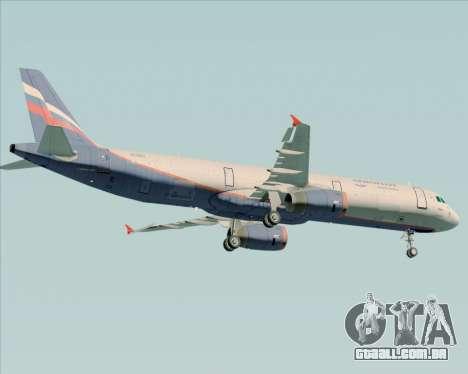 Airbus A321-200 Aeroflot - Russian Airlines para GTA San Andreas vista traseira