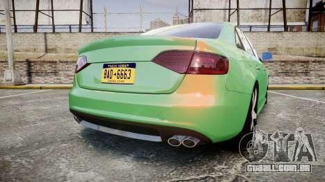 Audi S4 2010 FF Edition para GTA 4 traseira esquerda vista