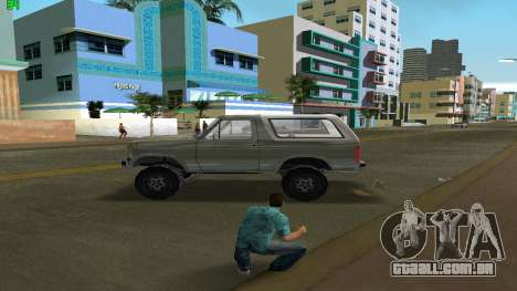 Ford Bronco 1985 para GTA Vice City deixou vista