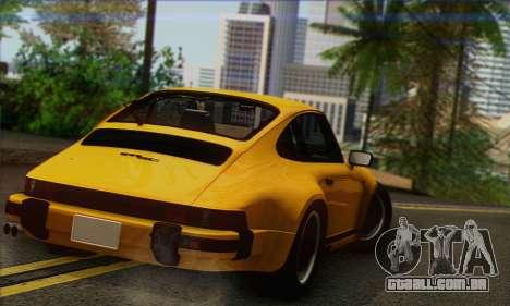 Porsche 930 Turbo Look 1985 Tunable para GTA San Andreas esquerda vista