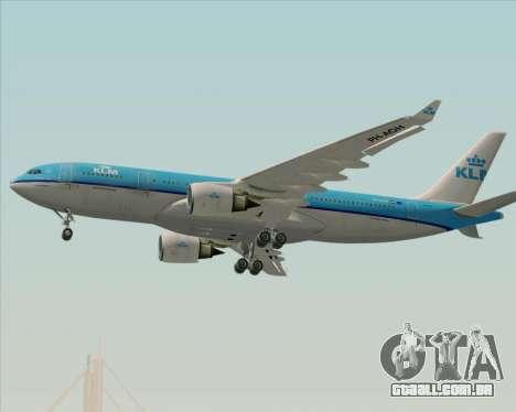 Airbus A330-200 KLM - Royal Dutch Airlines para GTA San Andreas vista superior