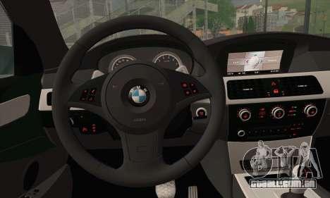 BMW M5 Stanced para GTA San Andreas traseira esquerda vista
