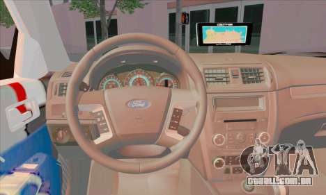 Ford Fusion NYPD v2.0 para GTA San Andreas traseira esquerda vista