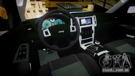 Jeep Grand Cherokee SRT8 stock para GTA 4 vista de volta