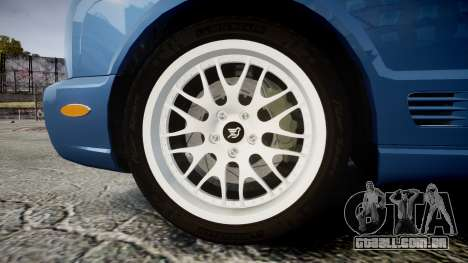 Bentley Arnage T 2005 Rims2 Chrome para GTA 4 vista de volta
