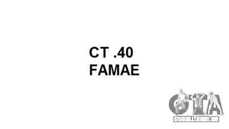 Máquina FAMAE CT-40 icon1 para GTA 4 terceira tela