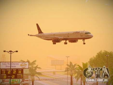 Airbus A321-232 jetBlue Batty Blue para GTA San Andreas vista interior