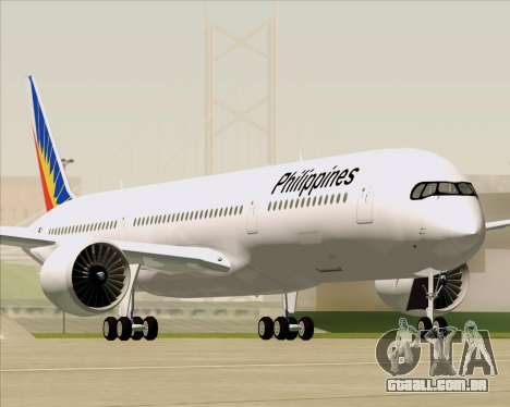 Airbus A350-900 Philippine Airlines para o motor de GTA San Andreas