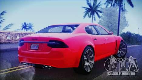 Lampadati Felon para GTA San Andreas esquerda vista