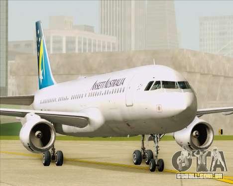 Airbus A320-200 Ansett Australia para GTA San Andreas vista interior