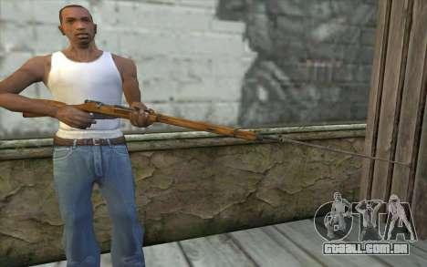 O Mosin-v9 para GTA San Andreas terceira tela