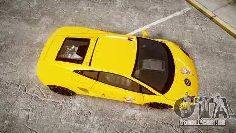 Lamborghini Gallardo 2013 Honoka Kousaka para GTA 4 vista direita