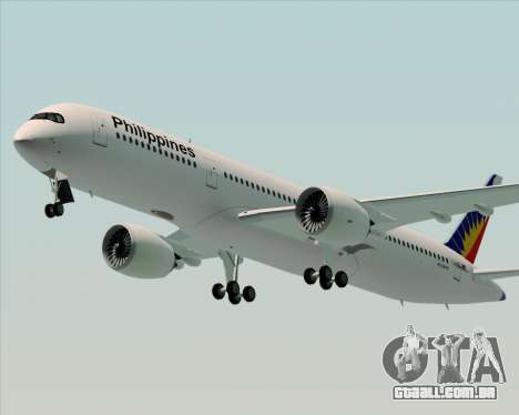 Airbus A350-900 Philippine Airlines para GTA San Andreas vista direita