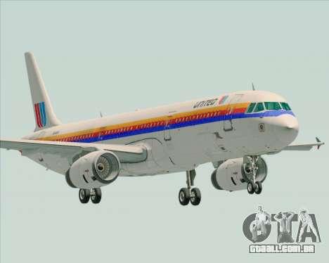 Airbus A321-200 United Airlines para GTA San Andreas