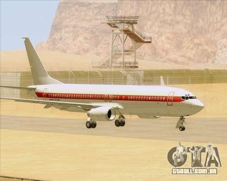 Boeing 737-800 EG&G - Janet para GTA San Andreas vista traseira