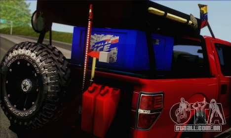 Ford F-150 2012 para GTA San Andreas traseira esquerda vista