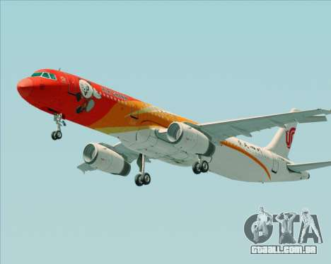 Airbus A321-200 Air China (Beautiful Sichuan) para as rodas de GTA San Andreas