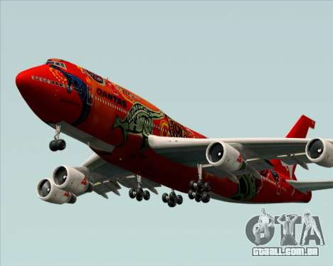 Boeing 747-400ER Qantas (Wunala Dreaming) para GTA San Andreas vista interior