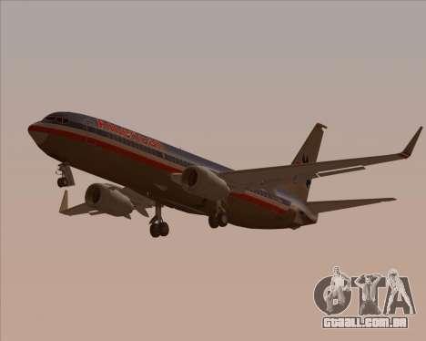 Boeing 737-800 American Airlines para GTA San Andreas vista inferior