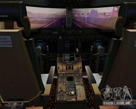 Boeing 747-400ER Qantas (Wunala Dreaming) para GTA San Andreas interior