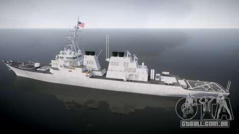 US Navy Destroyer Arleigh Burke para GTA 4 esquerda vista