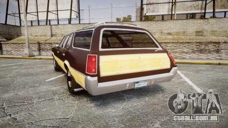 Oldsmobile Vista Cruiser 1972 Rims2 Tree5 para GTA 4 traseira esquerda vista