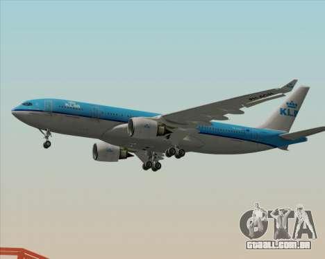 Airbus A330-200 KLM - Royal Dutch Airlines para GTA San Andreas traseira esquerda vista