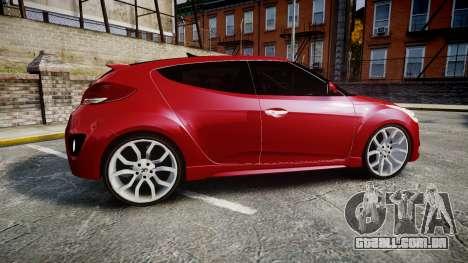 Hyundai Veloster Turbo 2012 para GTA 4 esquerda vista