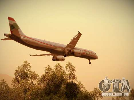 Airbus A321-232 Middle East Airlines para o motor de GTA San Andreas