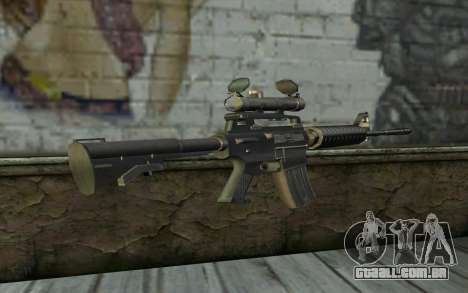 M4 from Hitman 2 para GTA San Andreas segunda tela