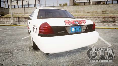 Ford Crown Victoria LC Sheriff [ELS] para GTA 4 traseira esquerda vista