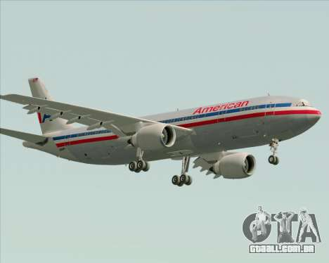 Airbus A300-600 American Airlines para GTA San Andreas interior