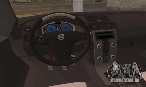 Volvo XC70 K9 Politie para GTA San Andreas traseira esquerda vista