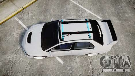 Mitsubishi Lancer Evolution VIII Stance para GTA 4 vista direita